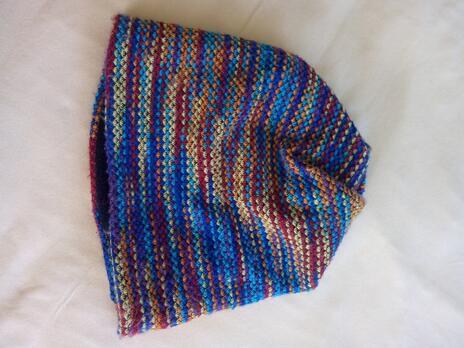 Hřejivý pletený nákrčník a čepice 2 v 1  66f9984530