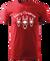 Pánské tričko se soby | Velikost: XS | Červená
