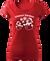 Dámské tričko se sněhuláky | Velikost: XS | Červená