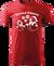 Pánské tričko se sněhuláky | Velikost: XS | Červená
