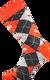 Ponožky - Káro oranžová | Velikost: 43-46