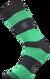 Ponožky - Pruhy zelené | Velikost: 39-42