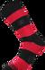 Ponožky - Pruhy červené | Velikost: 43-46