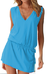 Dámské letní šaty s tkaničkou | Velikost: S/M | Tyrkys