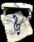 Pouzdro na brýle s utěrkou houslový klíč