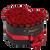 Černé srdce červených růží