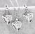 Triangl set náušnice a náhrdelník