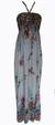 Dámské dlouhé šaty | Uni | Světle šedá