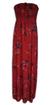 Dámské dlouhé šaty | Uni | Červená