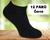 12 párů ponožek | 35-38 | Černá