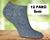 12 párů ponožek | 35-38 | Šedá