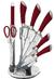 Sada nožů ve stojanu 8 ks nerez Infinity Line červená BH/2045