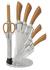 8dílná sada nožů se stojánem, zlatá kovová, Infinity Line BH/2265