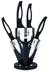 6dílná sada keramických nožů GGS Solingen - černá