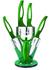 6dílná sada keramických nožů GGS Solingen- tmavě zelená