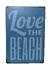 Plechová cedule Love the beach