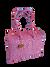 Maleta multicolor   Růžovo fialová