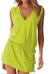 Dámské letní šaty s tkaničkou | Velikost: S/M | Pistácie