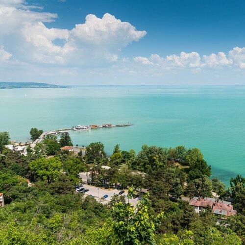 Pláže na poloostrově Tihany