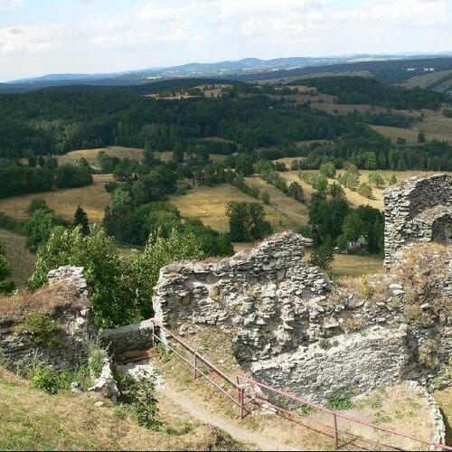 Míšenský důl a zřícenina Tolštejn
