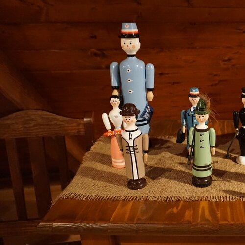 Expozice dřevěných hraček v Hlinsku