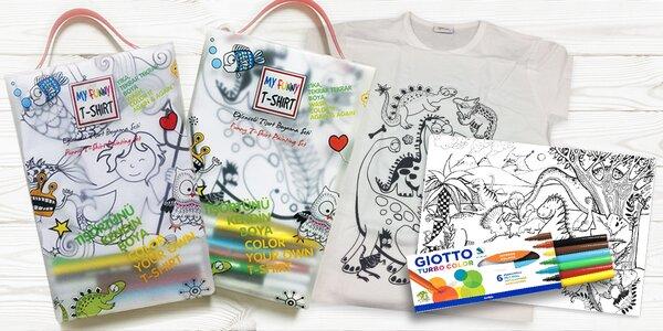 Malování vodními fixy: kreslicí podložky, trička i sada