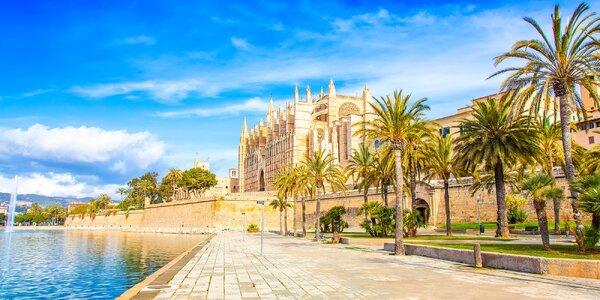 Mallorca letecky: hotel u pláže, 7 nocí, polopenze