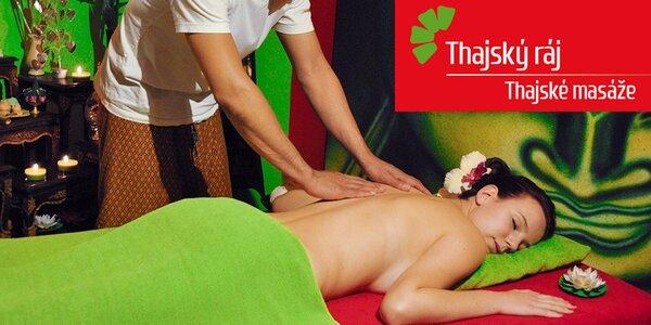 60 minut masáže dle výběru v Thajském ráji