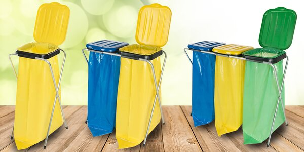 Stojany na odpadkové pytle o objemu 120 litrů