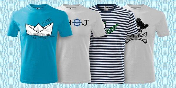 Bavlněná trička pro malé i velké vodáky