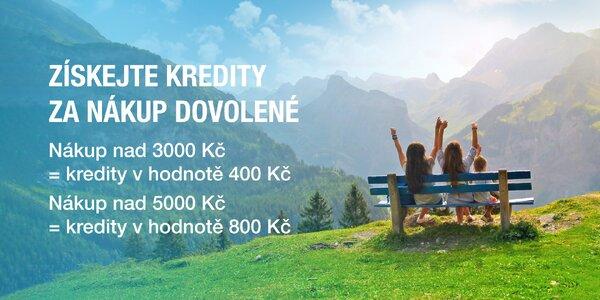 Pořiďte si dovolenou a získejte až 800 Kč. Roztočte letní kredity!