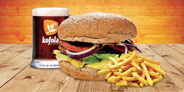 Poklad v housce: burgerové menu a bezedný drink