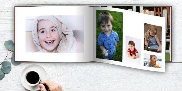 Fotokniha v tvrdých deskách na šířku