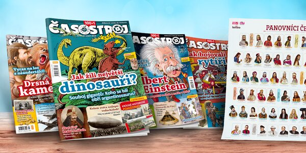 Předplatné dětského magazínu Časostroj s dárky