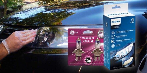 Sada pro renovaci světlometů a žárovky H4 a H7