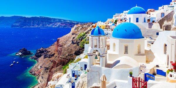 Romantické Řecko: 7 nocí na ostrově Santorini