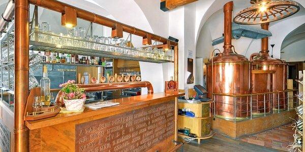 Pobyt v kroměřížském pivovaru: jídlo i exkurze