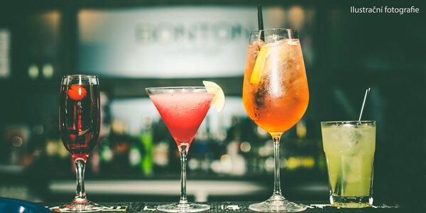 Otevřený voucher v hodnotě 250–1000 Kč na drinky