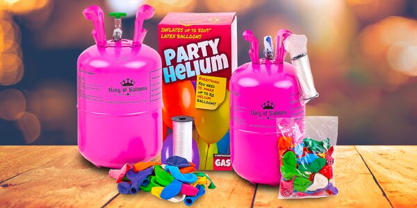 Helium v lahvi s 30 nebo 50 balónky k nafouknutí