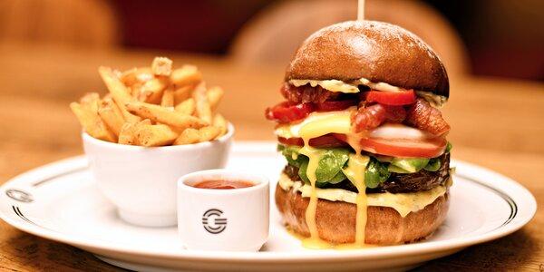 Burger s masem Black Angus u vítěze Burgermánie
