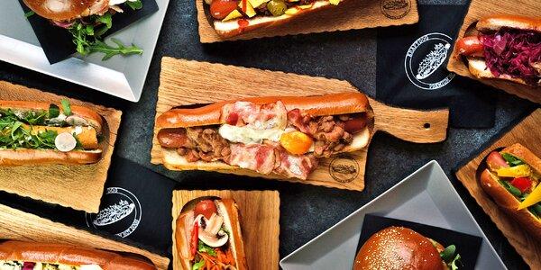 Pořádný hotdog v centru města vč. vege varianty