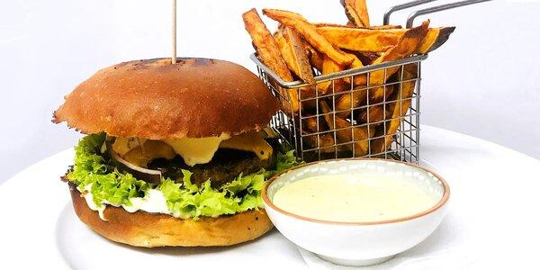Cheeseburger či Oregon burger a domácí hranolky