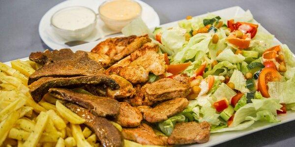 Dobroty z grilu pro 4 osoby: 600 g masa a hranolky