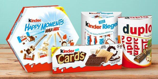 Sladké potěšení: čokolády Kinder a Duplo