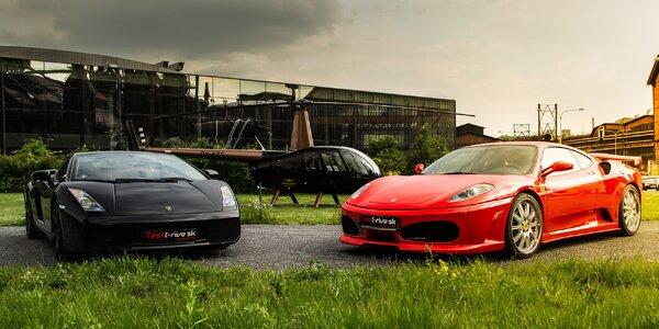 Jízdy s videozáznamem ve Ferrari a Lamborghini