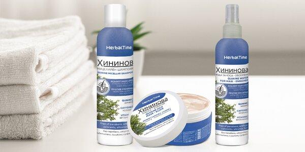 Chininová vlasová kosmetika proti padání vlasů