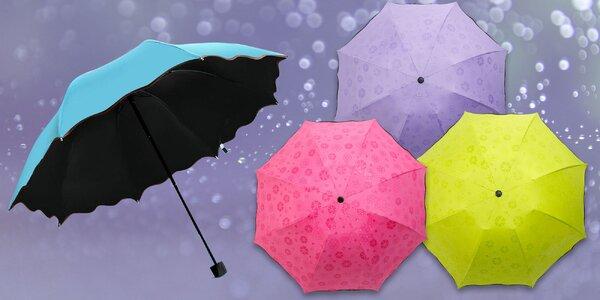Magický deštník, který v dešti vykouzlí květinky