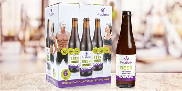 6 lahví proteinového piva pro sportovce i k dietě