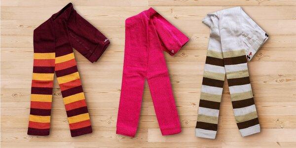 Dětské veselé legíny: jednobarevné i pruhované