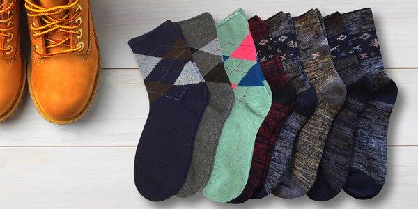 Dámské termo ponožky s příměsí bambusového vlákna